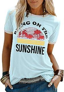 Sunshine Hug Me Funny Dinosaurs Womens Long Sleeve Hooded Loose Casual Pullover Hoodie Dress Tunic Sweatshirt Dress with Pockets