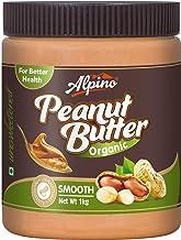Alpino Organic Natural Peanut Butter Smooth 1 KG (Unsweetened / Gluten Free / Non-GMO / Vegan)