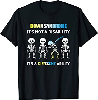 Down Syndrome It's Not A Disability Dabbing Skeleton T-Shirt
