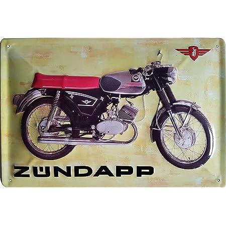ZÜndapp Ks50 Moped Hochwertig Geprägtes Retro Werbeschild Blechschild Türschild Wandschild 30 X 20 Cm Küche Haushalt