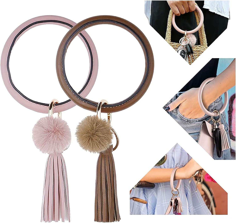 Key Ring Bracelet Keychain Wristlet Keychain Bangle Key Ring 2pcs