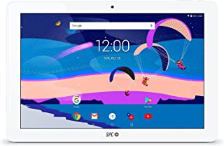 SPC Gravity - Tablet con pantalla IPS HD 10.1 pulgadas, memoria interna 32GB, RAM 3GB, WiFi y Bluetooth – Color Blanca