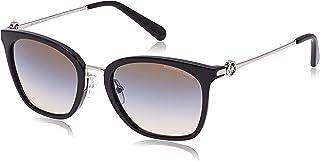 MICHAEL KORS Women's Lugano 3005M0 53 Sunglasses, Black/Brown/Blue/Nudetrigradient
