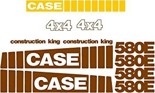 New Case 580E Backhoe Loader Construction King 4 x 4 Whole Decal Set