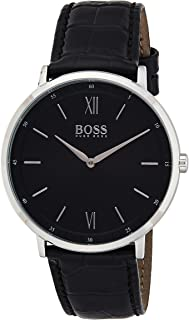 Hugo Boss Mens Quartz Watch, Analog Display and Leather Strap 1513647