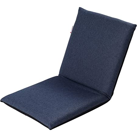 iVaristle 座椅子 フロアチェア テレワークに推奨 6段階リクライニング フルフラット ソファベッド カバー洗濯可能 あぐらざいす 省スペース 収納便利 1年間保障 (ブルー)