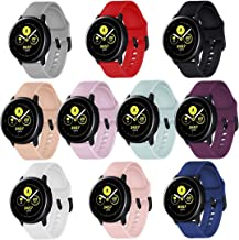 COLAPOO 10-PACK Sport Bands for Galaxy Watch Active2 44mm,Galaxy Watch Active2 40mm/Galaxy Watch 42mm/Galaxy Watch Active ...