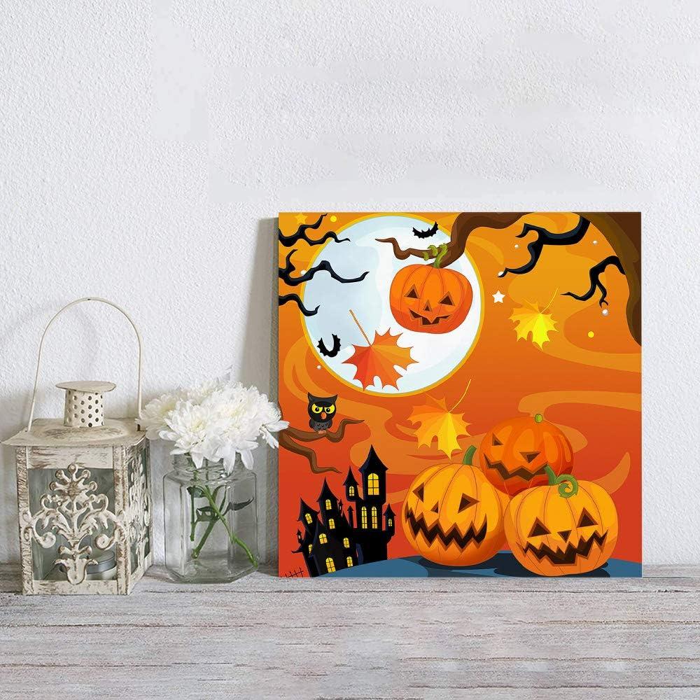 Aomike Canvas Wall Art Decor New Shipping Free free shipping Fu Pumpkin Castle Halloween Mystery
