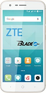 "ZTE V8 Lite - Smartphone Libre de 5"" (4G, Octa-Core 1.5GHz, 2 GB RAM, Almacenamiento Interno de 16 GB, Bluetooth, WiFi, Android) Color Dorado"