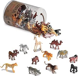 Battat AN6004Z Terra - Figurines juguetes de animales salvajes en un tubo para niños de 3+ años, 10.16 cm x 10.16 cm x 13.97 cm, 60 piezas