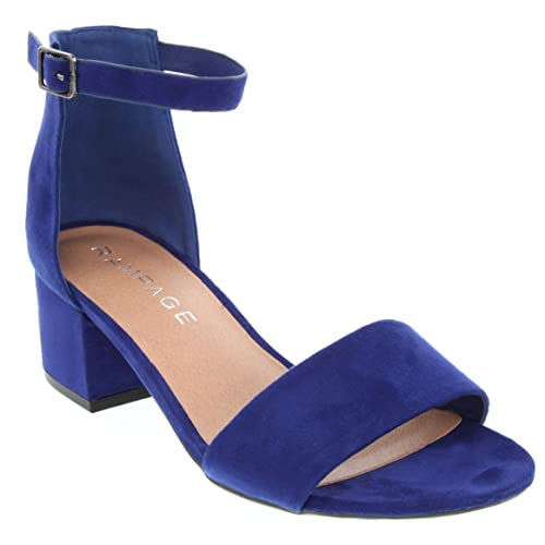 6477cfca8ad Sugar Women s Noelle Low Two Piece Block Heel Dress Shoe Ladies Ankle Strap  Pump Sandal