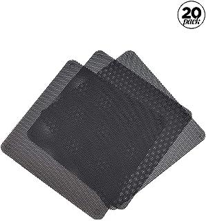 Zliger 20 Piezas Filtro Polvo PVC Malla,Computer Mesh Al Case Cover Cubierta Caja A Prueba Antipolvo Negra Cooler Fan Dust Cortable para Ordenador ProtecciÓN del Ventilador