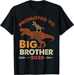 T-rex Riding Dinosaur-Vintage Promoted To Big Brother 2020 T-Shirt