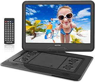 WONNIE 17.9'' Large Portable DVD/CD Player with 15.6'' Swivel Screen, 1366x768 HD LCD TFT, 6 Hrs 5600mAH Rechargeable Batt...