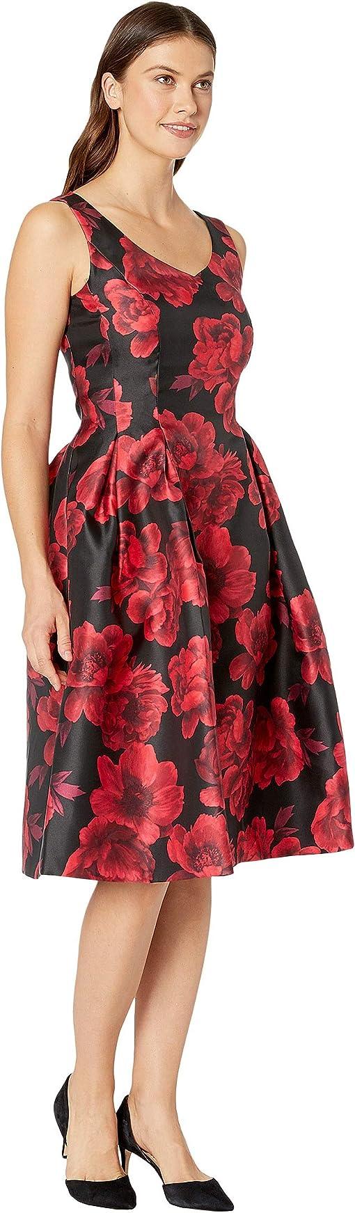 Red/Black Floral