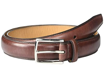 Cole Haan 32mm Full Dome Stitch Strap Harness Buckle (Chocolate/Nubuck) Men