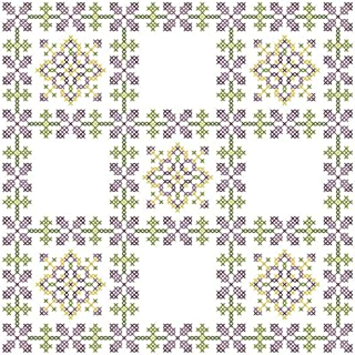 Herrschners® Floral Kaleidoscope Quilt Blocks Stamped Cross-Stitch