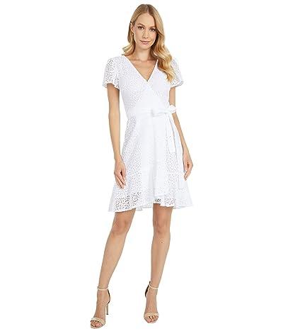MICHAEL Michael Kors Lace Wrap Dress (White) Women