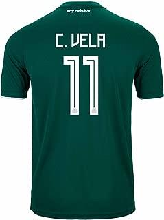 adidas C. Vela #11 Mexico Home Soccer Stadium Men's Jersey World Cup Russia 2018