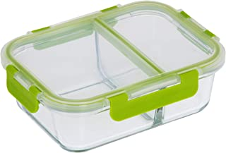 Royalford 1000ml Microwavable/Freezer/Oven/Dishwasher Safe Glass Meal Prep Container for Storage/Food Container/Bento Lunc...