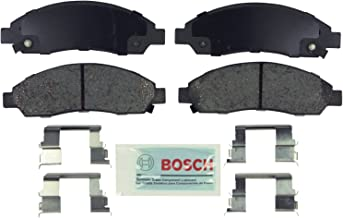 Bosch BE1039H Blue Disc Brake Pad Set with Hardware for Select Chevrolet Colorado, GMC Canyon, Isuzu i-Series Trucks, and Pontiac G6 - FRONT