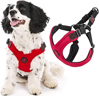Gooby - Escape Free Sport Harness, Small Dog Step-In Neoprene Harness for Dogs that Like to Escape Their Harness, Red, Small