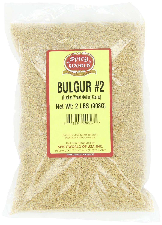 Spicy World Bulgur Cracked Wheat Medium #2 USA Grown, 2 LB Bag (