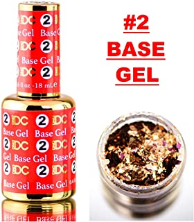 DND DC DIP LIQUID for Nails, 2 BASE GEL, 0.6oz, 18ml, Daisy Dipping (with bonus side Glitter) Made in USA (#2 BASE GEL)