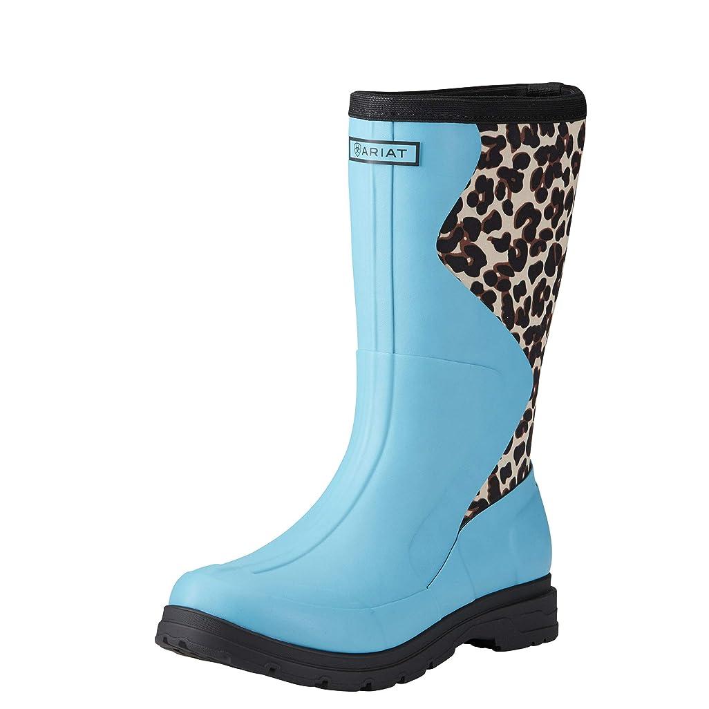 邪悪な視力ネスト[アリアト] レディース 女性用 シューズ 靴 ブーツ レインブーツ Springfield Rubber Boot - Bright Aqua/Leopard Print [並行輸入品]