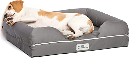 "PetFusion Small Pet Bed w/Solid 2.5"" Memory Foam, Waterproof Liner, YKK Premium Zippers. [Ultimate Lounge 25x20x5.5; ..."