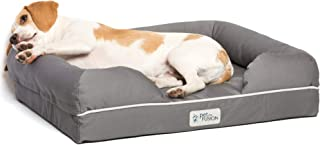 PetFusion Ultimate Dog Bed, orthopedic Memory Foam. (Multiple Sizes/Colors, medium firmness, Waterproof liner, YKK zippers, more Breathable 35% cotton cover, Cert. Skin Contact Safe). 2yr Warranty