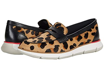 Cole Haan 4. Zerogrand Loafer (Jaguar Haircalf Print/Rouge Red) Women