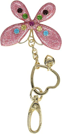 Glitter Butterfly Key Fob in a Betsey Johnson Pouch