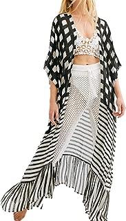 Da Donna Farfalla Stampa Swimwear Beach Kaftan Bikini COVERUP Kimono pareo abito