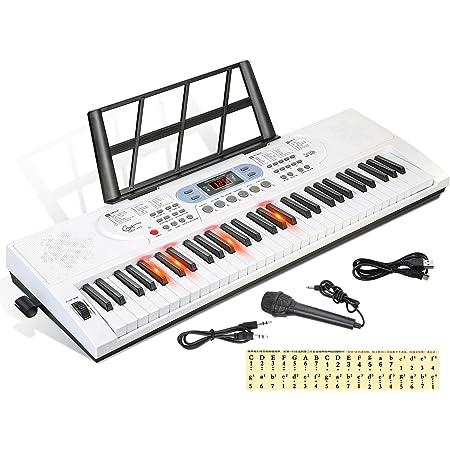 Piano RockJam con teclado de 54 teclas con fuente de ...