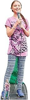 Star Cutouts Ltd-CS821 Greta Thunberg-Recorte de cartón, Soporte con Mini Mesa Gratis, Multicolor (CS821)