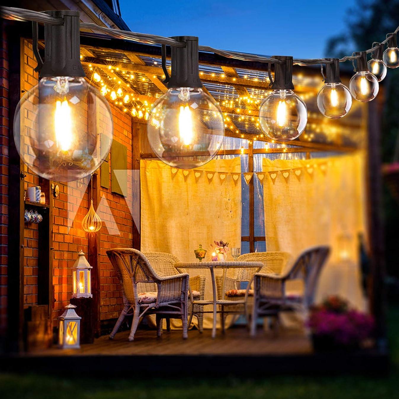 絡まるコールド補足BRTLX LEDストリングライト 防雨型 5.5M 電球付き12個 LEDイルミネーションライト 2700k 電球色相当 E17口金 黒 ソケット10個 クリスマス イルミネーション 装飾ライト 誕生日パーティー電飾 結婚式飾り