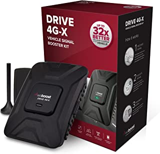 weBoost Drive 4G-X (470510) Cell Phone Signal Booster, Cell Signal Booster for Car & Truck - Verizon, AT&T, T-Mobile, Sprint - Boosts 4G LTE Cell Signals – Enhance Your Cell Phone Signal up to 32x