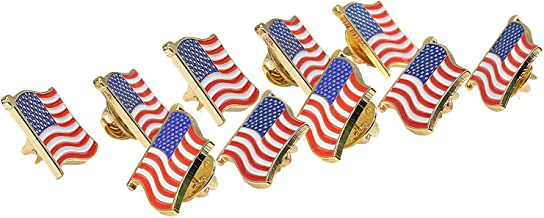 TONOS Exquisite American Flag Pin -The Stars and Stripes Flag Lapel Pin Made in USA