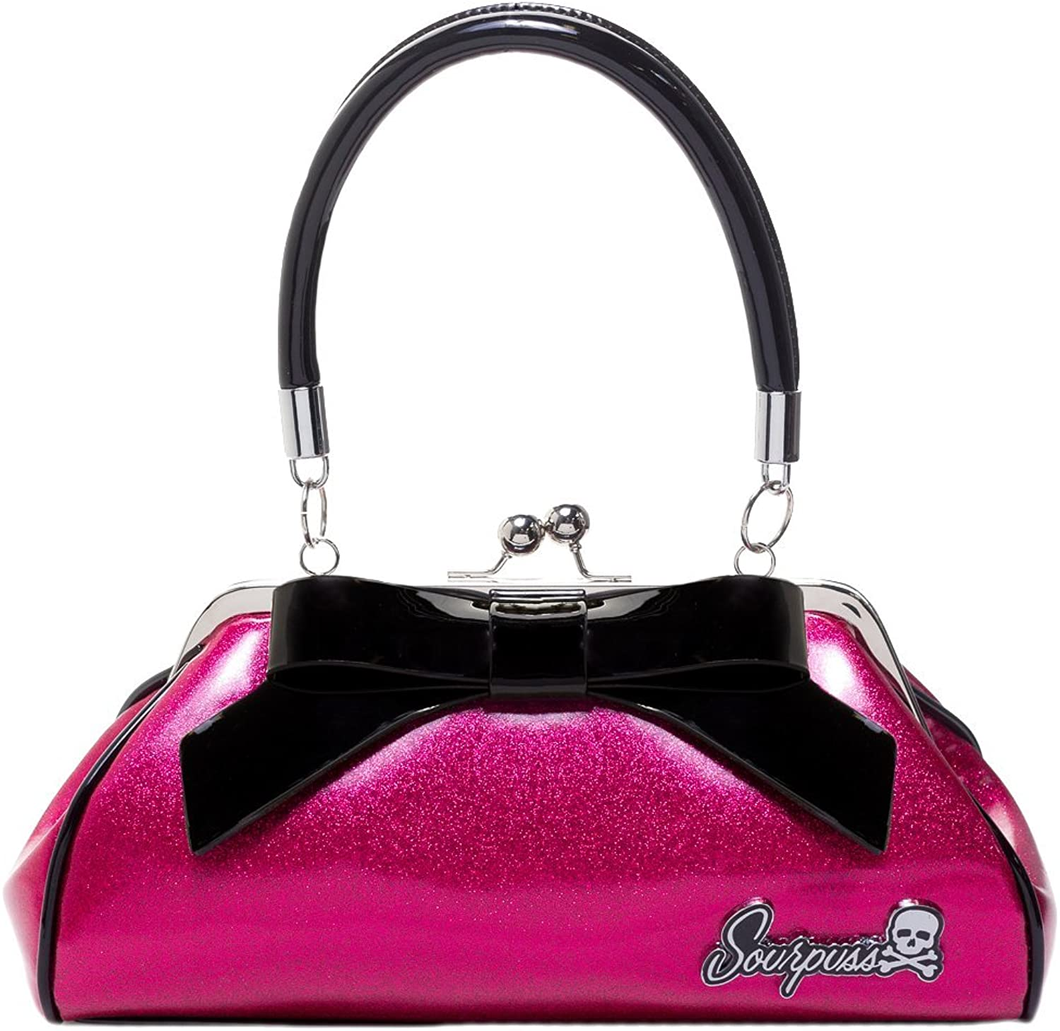 Sourpuss Floozy Purse Glitter Pink
