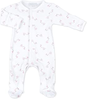 Magnolia Baby Baby Girl Vintage Birdie Embroidered Ruffle Footie Pink