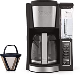 Ninja CE201 12-Cup Programmable Coffee Maker with Classic and Rich Brews, 60 oz. Water Reservoir (Renewed)