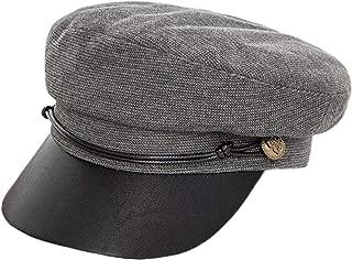 E.Joy Online Classic Newsboy Cabbie Hat Fall Winter Leather Visor Beret Caps Fiddler Cap