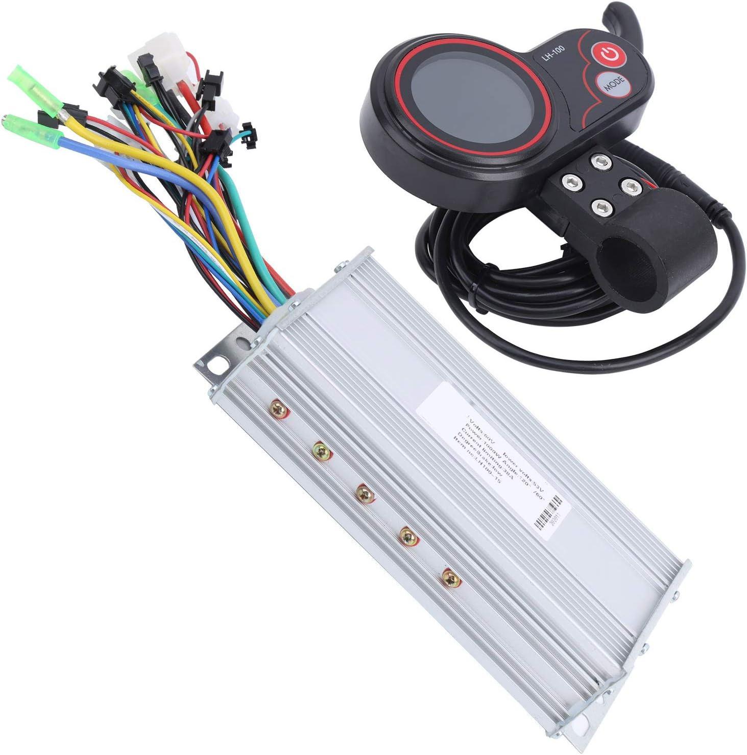 Resistente al desgaste 2 en 1 LH100 60V Controlador de motor de scooter eléctrico Controlador LCD Pulgar palanca de cambios duradero para entrenamiento Competencia para(1000W)