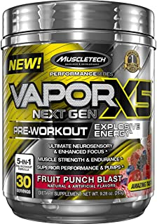 Pre Workout Powder | MuscleTech Vapor X5 | PreWorkout Energy Powder | Pre Workout for Men & Women | Creatine as Muscle Bui...