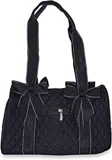 Rosenblue Quilted Mini Duffel Bag With Removable Bows