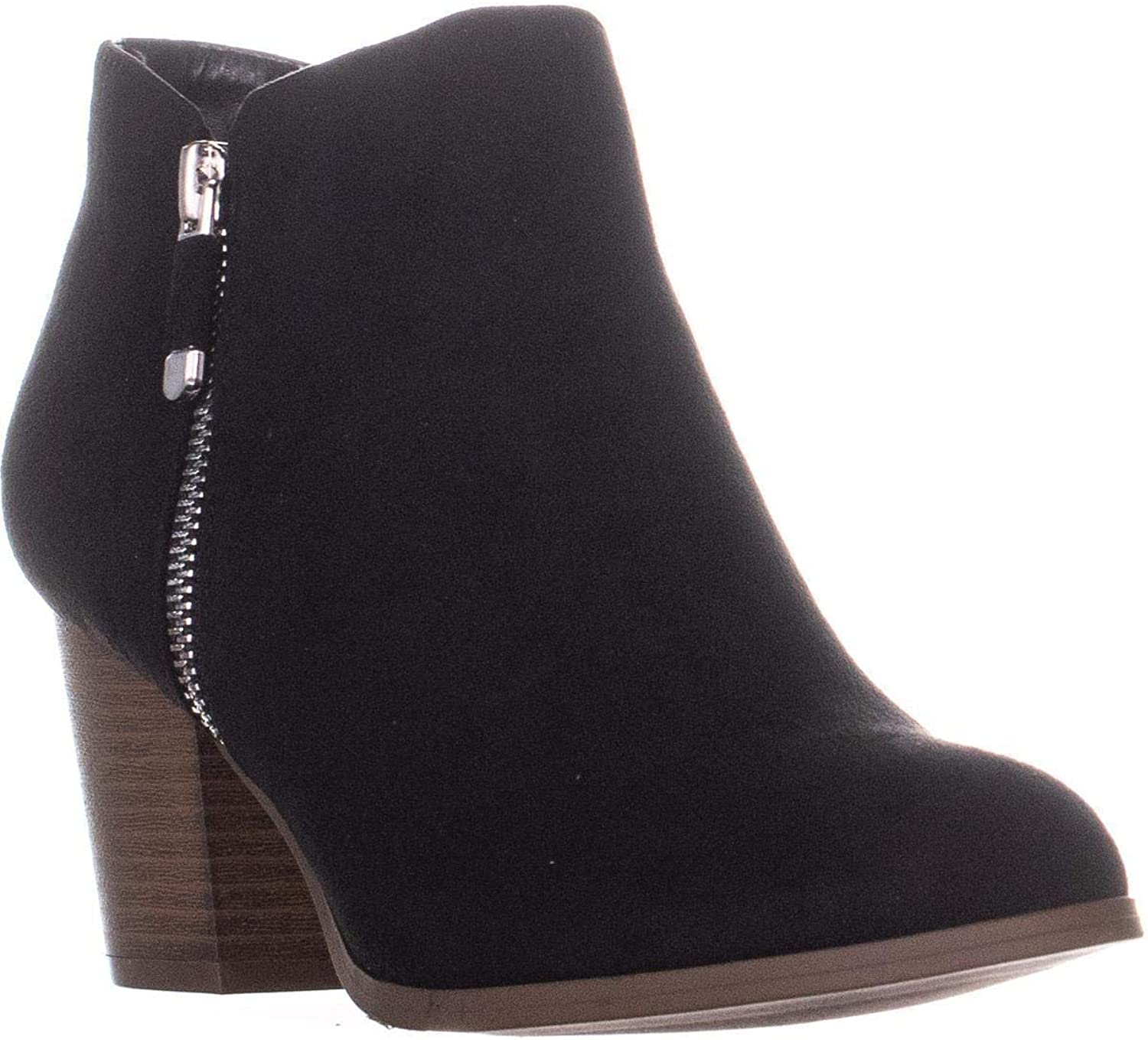 SC35 Masrinaa Ankle Booties, Black Suede
