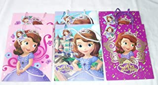 6 pieces Disney PIXAR Nickelodeon Birthday Goody Gift Loot Favor Bags Party Supplies (Sofia the First)