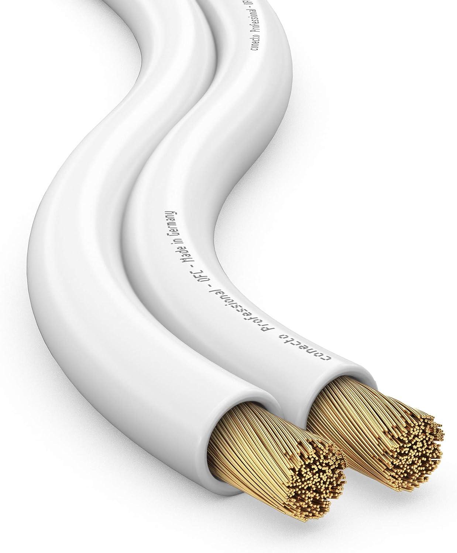 10,0m /Ø 2x1,50mm/² transparentee 99.9/% OFC cobre s/ólido 48x0.20mm hebra conecto CC50533 Cable de altavoz de audio profesional OFC