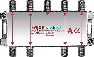 Axing SVE 8-01 - Distribuidor de antena (8 salidas, 5-2400 MHz)